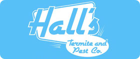 Hall's Termite and Pest Control Logo